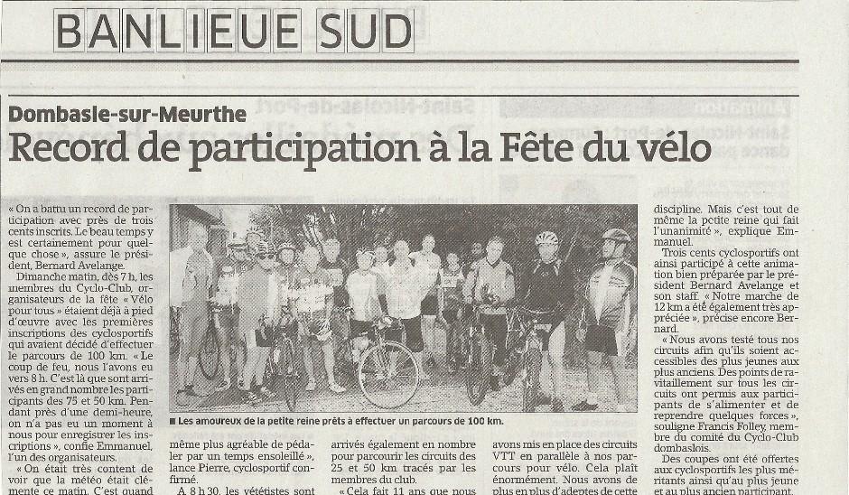 Velo pour Tous 01/09/2013